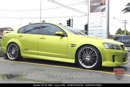 20x8.5 20x9.5 Lenso OP3 on HOLDEN VE