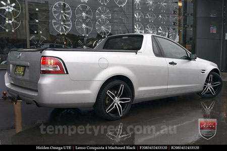 20x8.5 20x9.5 Lenso Conquista 4 CQ4 on HOLDEN OMEGA UTE