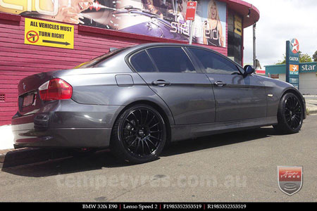 19x8.5 19x9.5 Lenso Speed 2 SP2 on BMW 320i E90