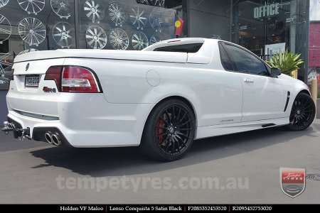 20x8.5 20x9.5 Lenso Conquista 5 SB CQ5 on HOLDEN VF MALOO