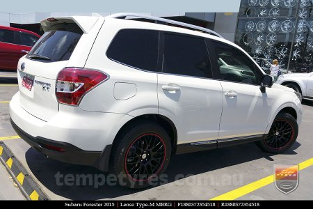 18x8.0 Lenso Type-M MBRG on SUBARU FORESTER