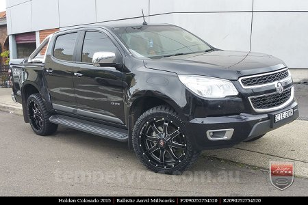 20x9.0 Ballistic Anvil Millworks on HOLDEN COLORADO