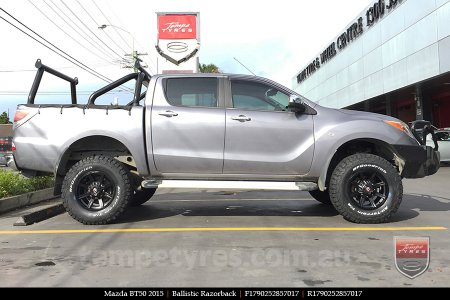 17x9.0 Ballistic Razorback on MAZDA BT50