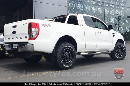 17x9.0 Ballistic Anvil Millworks on FORD RANGER