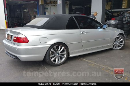 18x8.0 BM435 on BMW 330 CI
