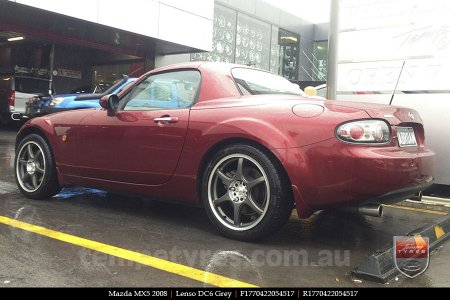 17x7.0 Lenso DC6 Grey on MAZDA MX5