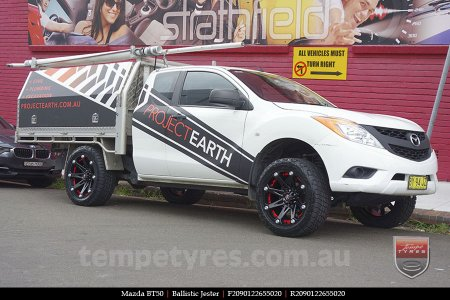 20x9.0 Ballistic Jester on MAZDA BT50