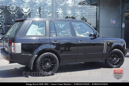 20x8.5 Lenso Como Black on RANGE ROVER HSE