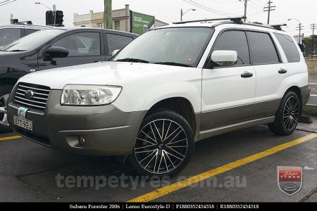 18x8.0 Lenso Eurostyle D ESD on SUBARU FORESTER