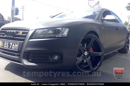 20x9.0 20x10.5 Lenso Conquista 7 MKS CQ7 on AUDI A5