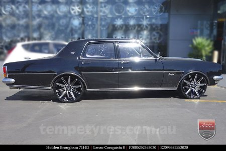 20x8.5 20x9.5 Lenso Conquista 8 CQ8 on HOLDEN BROUGHAM
