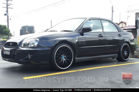 19x8.5 Lenso Type-M MBJ on SUBARU IMPREZA