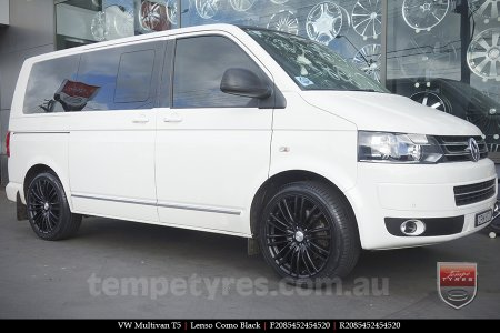 20x8.5 Lenso Como Black on VW MULTIVAN T5