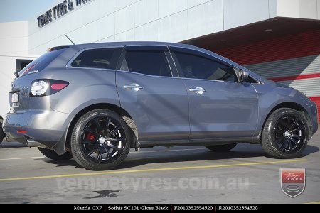 20x8.5 20x10 SC101 Gloss Black on MAZDA CX7