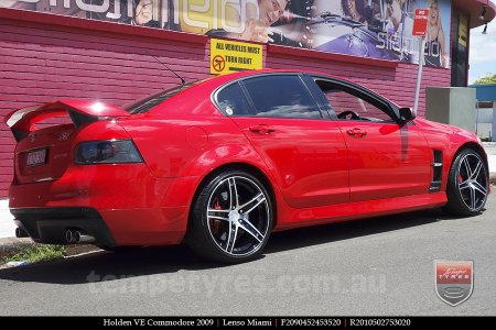 20x9.0 20x10 Lenso Miami on HOLDEN COMMODORE VE