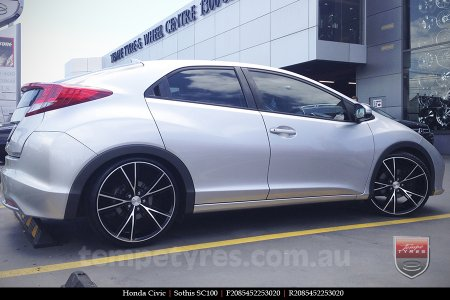 20x8.5 20x10 Sothis SC100 BFM on HONDA CIVIC