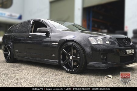 20x9.0 20x10.5 Lenso Conquista 7 MKS CQ7 on HOLDEN VE