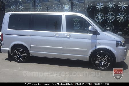 18x8.0 Incubus Fang on VW TRANSPORTER