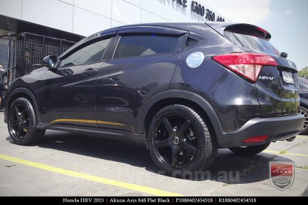 18x8.0 Akuza Axis 848 FB on HONDA HRV