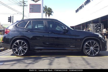 20X8.5 Lenso ESA Black on BMW X1