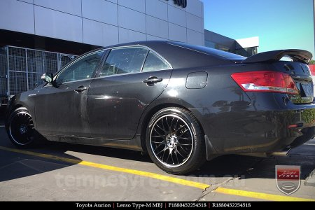 18x8.0 Lenso Type-M MBJ on TOYOTA AURION