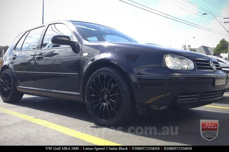 18x8.0 Lenso Speed 2 SP2 on VW GOLF MK4