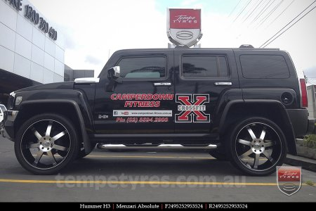 24x9.5 Menzari Absolute on HUMMER H3