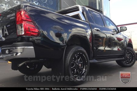 18x9.0 Ballistic Anvil Millworks on TOYOTA HILUX