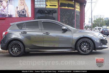 18x8.0 Lenso Type-M DG on MAZDA 3