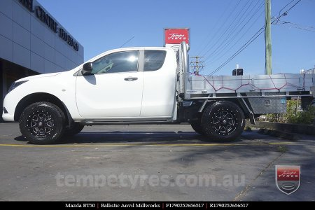 17x9.0 Ballistic Anvil Millworks on MAZDA BT50