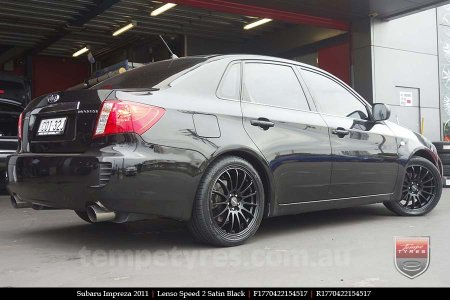 17x7.0 Lenso Speed 2 SP2 on SUBARU IMPREZA