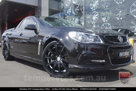 20x8.5 20x10 SC101 Gloss Black on HOLDEN VF COMMODORE