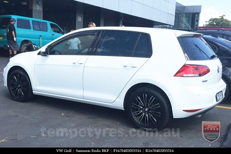 16x7.0 Samurai Endo BKF on VW GOLF