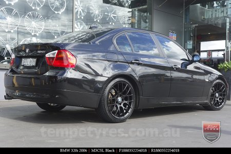 18x8.0 M3CSL Black on BMW 320i