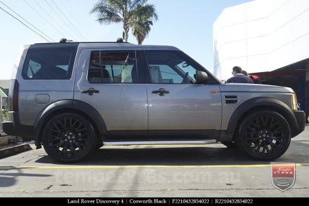 22x10 Cosworth Black on LAND ROVER DISCOVERY 4