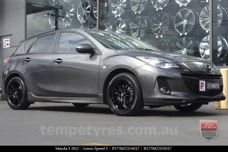 17x7.0 Lenso Speed 3 SP3 on MAZDA 3