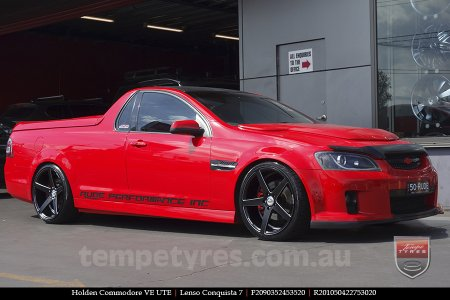 20x9.0 20x10.5 Lenso Conquista 7 MKS CQ7 on HOLDEN COMMODORE VE