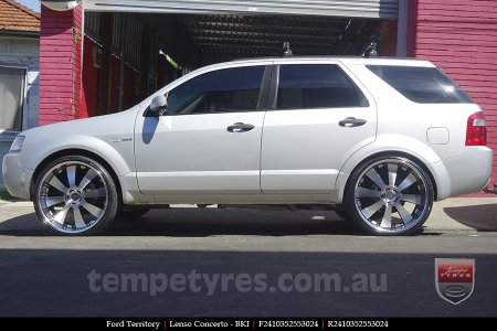 24x10 Lenso Concerto - BKI on FORD TERRITORY