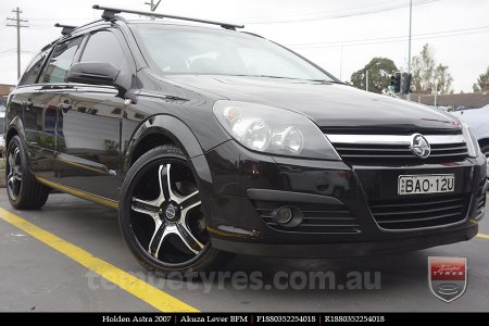 18x8.0 Akuza Lever BFM on HOLDEN ASTRA