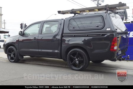 18x8.0 Akuza Axis 848 FB on TOYOTA HILUX 2WD