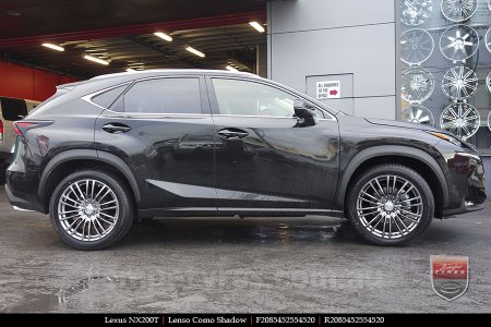 20x8.5 Lenso Como Shadow on LEXUS NX200T