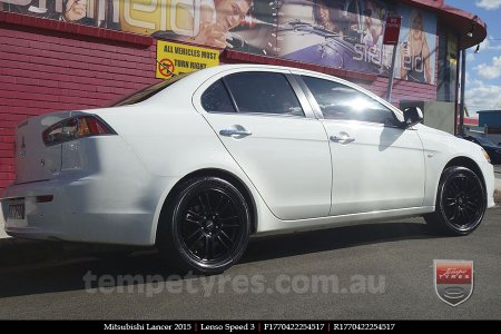 17x7.0 Lenso Speed 3 SP3 on MITSUBISHI LANCER