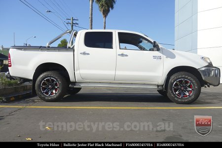 16x8.0 Ballistic Jester FBMT on TOYOTA HILUX
