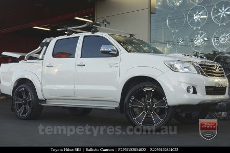 22x9.5 Ballistic Cannon on TOYOTA HILUX