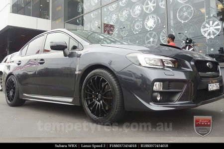 18x8.0 Lenso Speed 2 SP2 on SUBARU WRX
