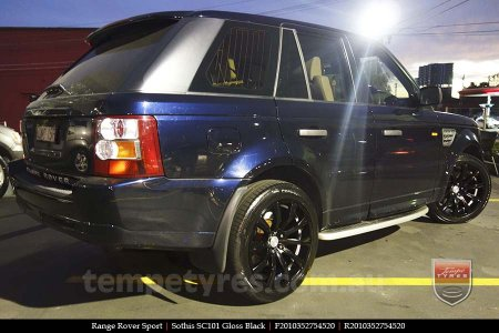 20x8.5 20x10 SC101 Gloss Black on RANGE ROVER SPORT
