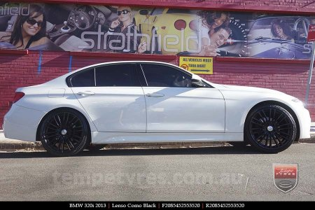 20x8.5 Lenso Como Black on BMW 320i
