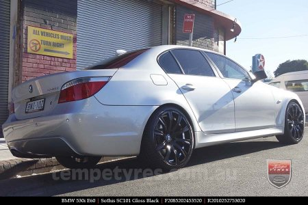 20x8.5 20x10 SC101 Gloss Black on BMW 5 SERIES