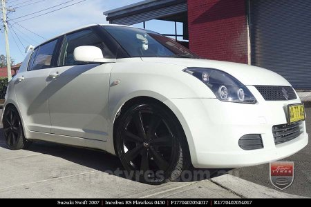 17x7.0 RS Flawless 0450 on SUZUKI SWIFT