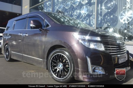 18x8.0 Lenso Type-M MBJ on NISSAN ELGRAND